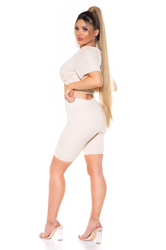 Geltonos spalvos oversize suknelė