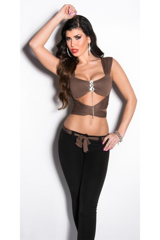Baltos spalvos tunika suvarstoma iškirpte_172264