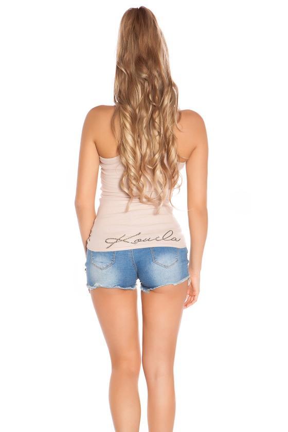 Juodos šlapio efekto mini suknelė