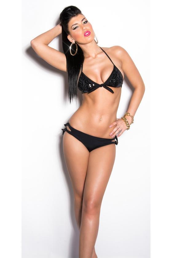 Juodos šlapio efekto suknelė