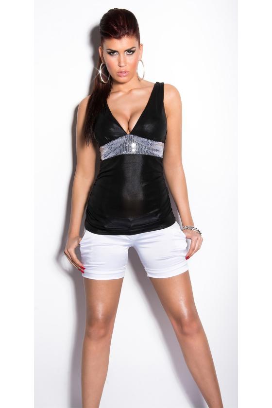 Šlapio efekto balta mini suknelė_173085