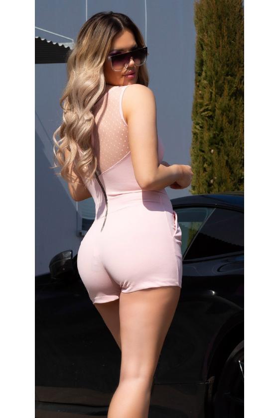 Šlapio efekto sidabrinė mini suknelė