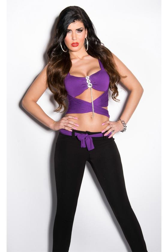 Šlapio efekto rožinė mini suknelė_173098