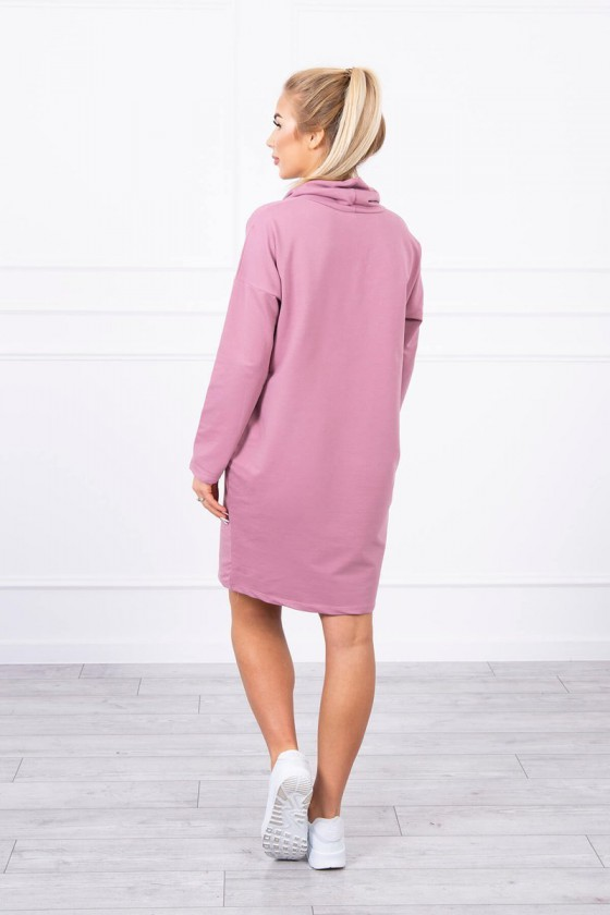 """Alyvų spalvos """"oversize"""" laisvalaikio suknelė_174291"""