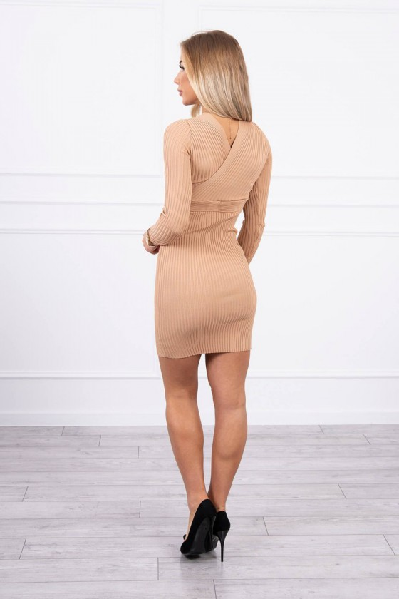 Smėlio spalvos šilta suknelė 5081_174674