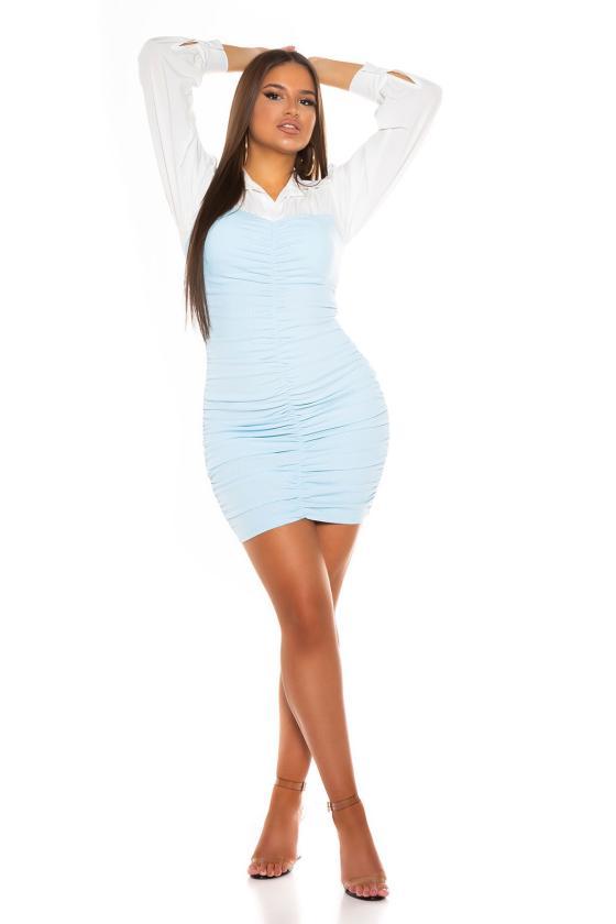 Smėlio spalvos šilta suknelė 5081