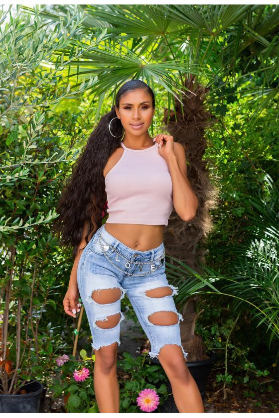 Juodos spalvos kelnės su prakirptomis klešnėmis_174754