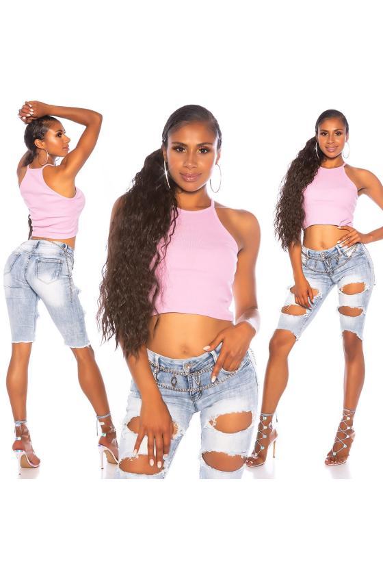 Mėlynos spalvos suknelė su V formos iškirpte_175697