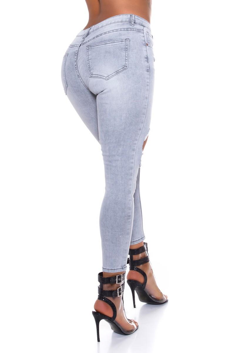 Mėlynos spalvos suknelė su V formos iškirpte_175698