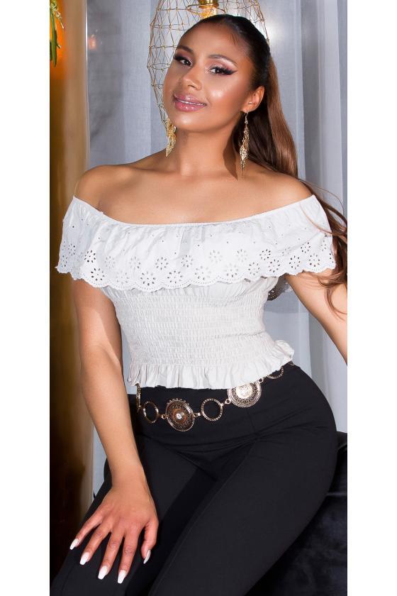 Mėlynos spalvos suknelė atvirais pečiais_175832