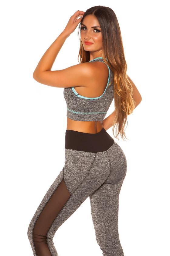 Mėlynos spalvos palaidinė su V formos iškirpte_175907
