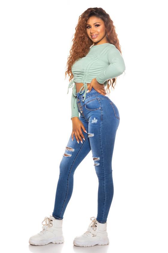 Neoninės rožinės spalvos dviejų dalių komplektas su šortais_176121