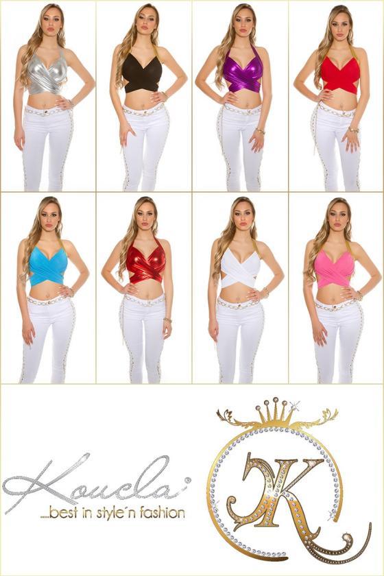 """Smėlio spalvos marškinėliai trumpomis rankovėmis """"Kiss""""_176207"""