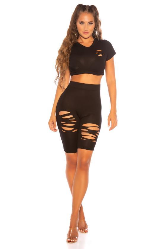 Mėlynos spalvos oversize tunika su aplikacija_176391