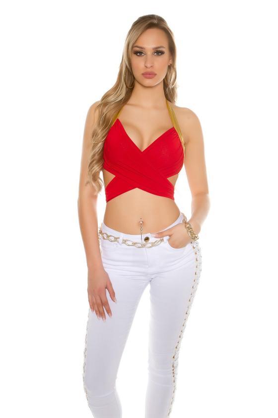 Baltos spalvos palaidinė puošniomis rankovėmis