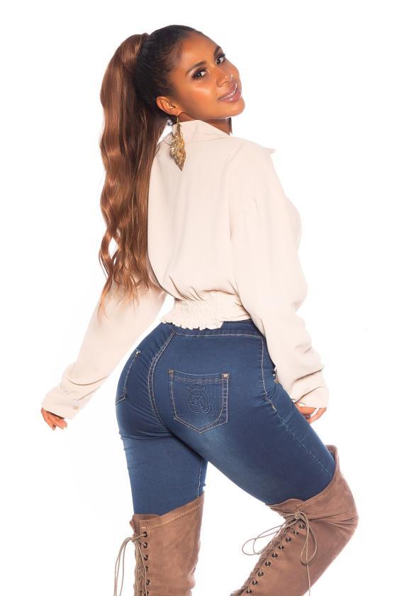 Smėlio spalvos satino imitacijos pižama_176656