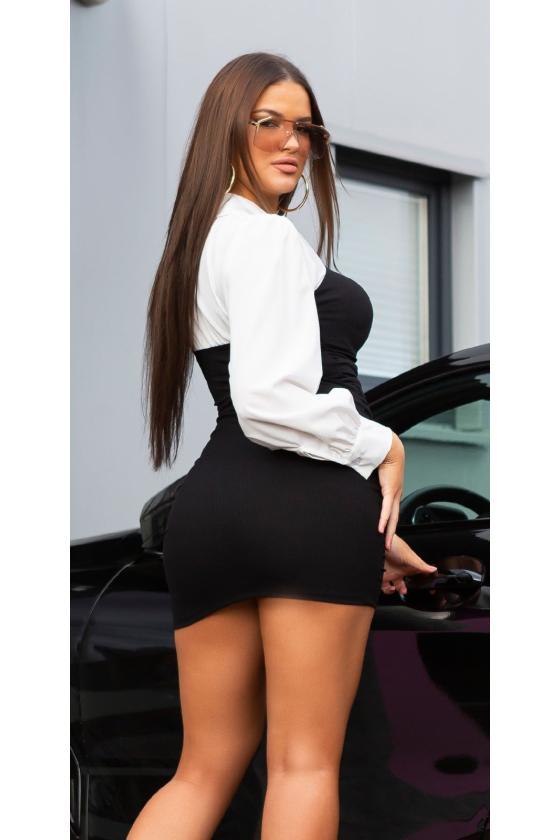 Žydros spalvos satino imitacijos pižama_176662