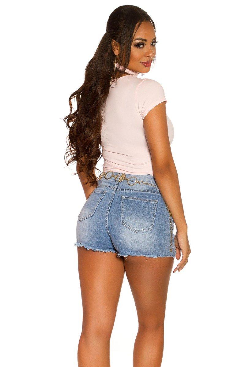 Juodos spalvos odos imitacijos kelnės_176814