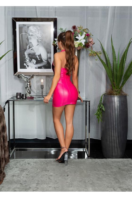 Žalios spalvos odos imitacijos kelnės_176821