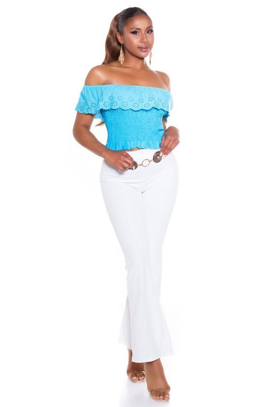 Juodos spalvos latekso imitacijos kelnės_178001