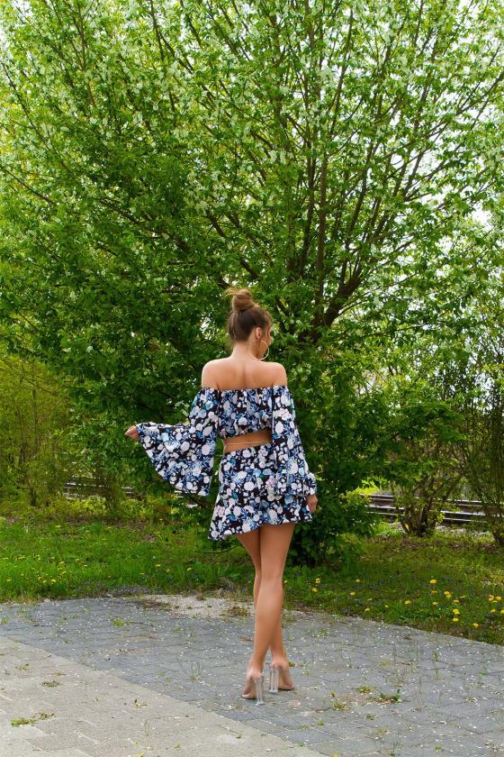 Violetinės spalvos odos imitacijos laisvalaikio kelnės_178018