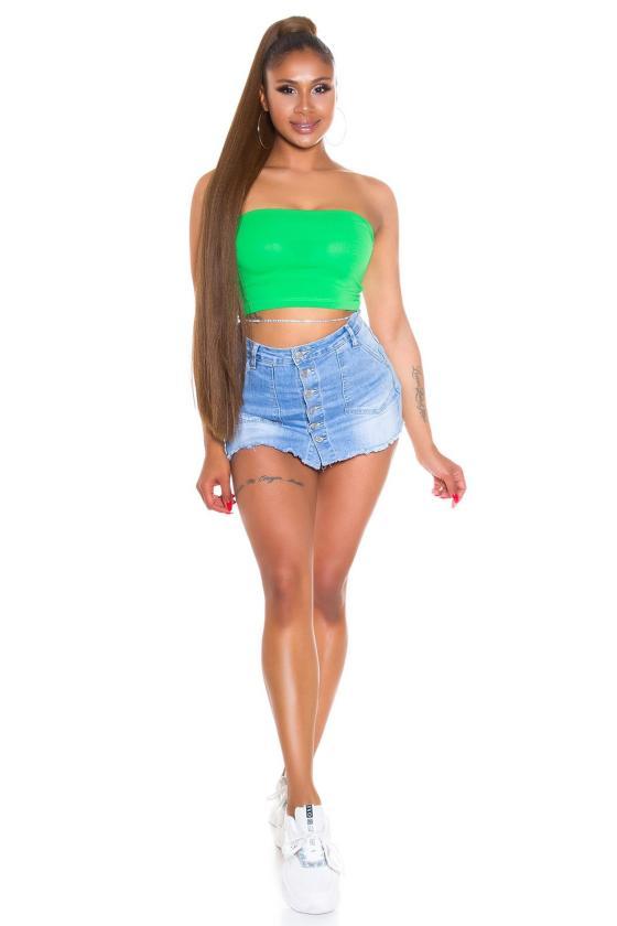 Kapučino spalvos odos imitacijos laisvalaikio kelnės_178024