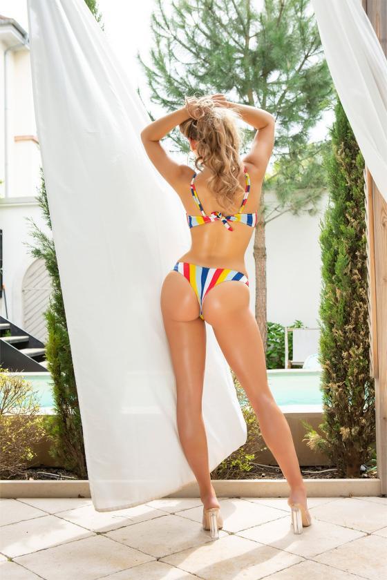 Rausvos spalvos laisvalaikio suknelė 8982
