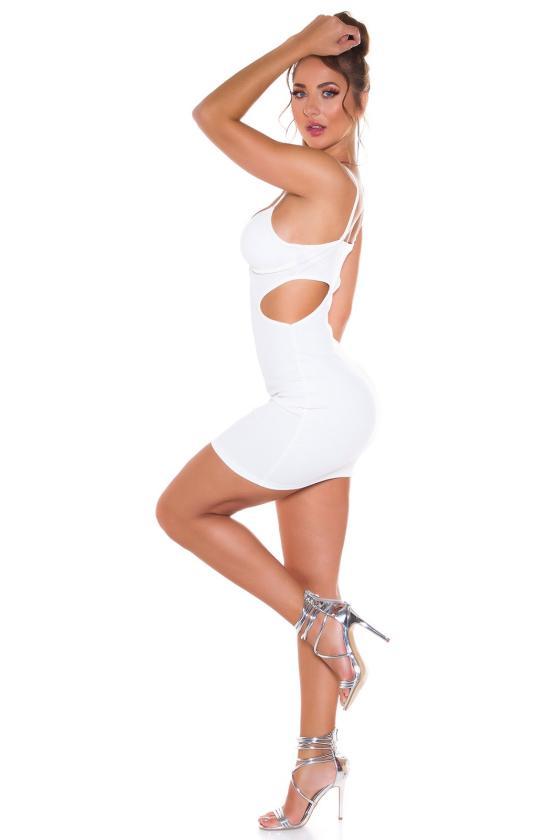 Mėtų spalvos medvilninė suknelė dekoruota raukiniais_178456