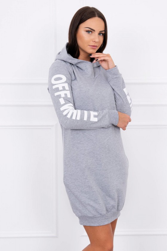 Pilkos spalvos suknelė OFF-WHITE