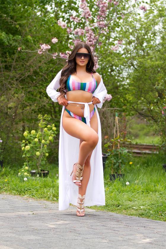 Geltonos spalvos suknelė OFF-WHITE