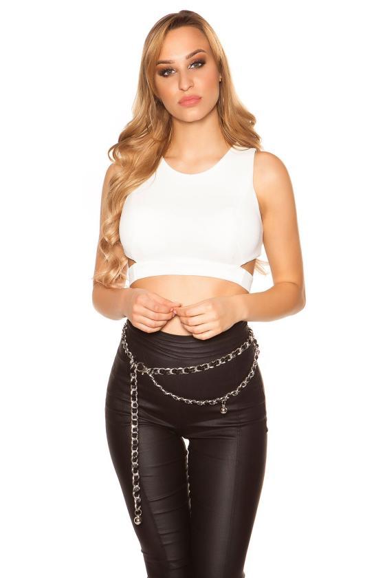 Žydros spalvos klasikinė suknelė su kloste_179845