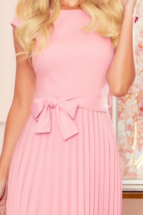 """Purvinos rožinės spalvos plisuota suknelė su dirželiu """"Lila""""_179872"""