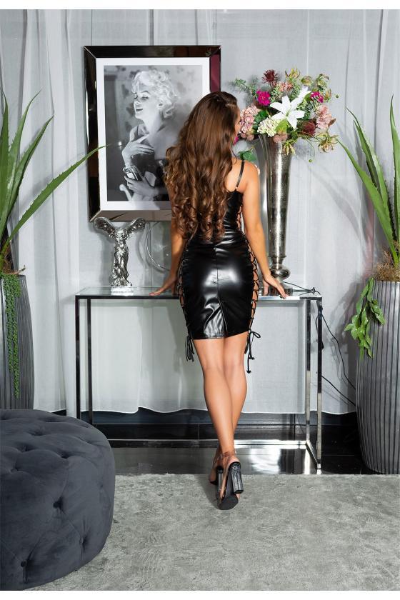 """Purvinos rožinės spalvos plisuota suknelė su dirželiu """"Lila""""_179873"""