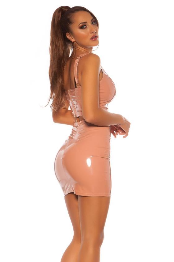Bordinės spalvos suknelė CARMEN_179956