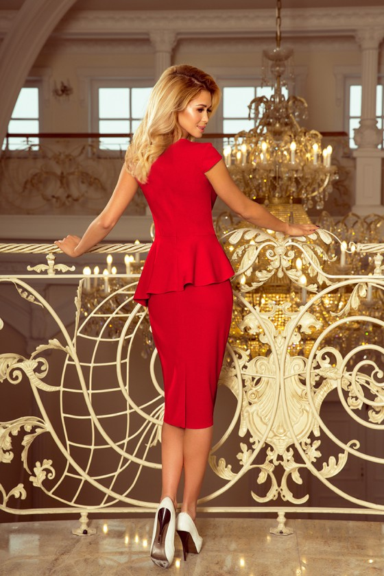 Raudonos spalvos peplum suknelė_179962