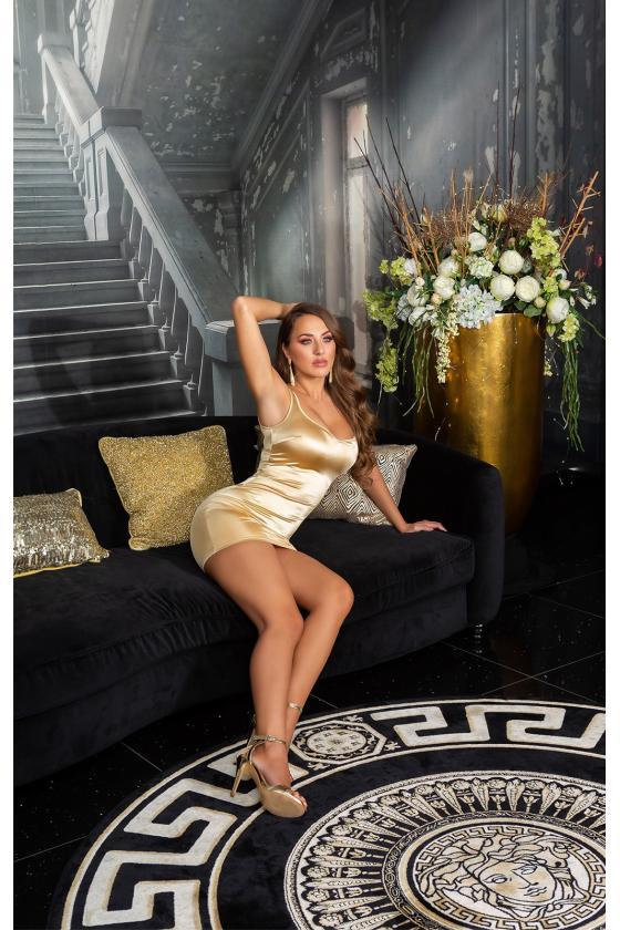 Raudonos spalvos peplum suknelė_179964
