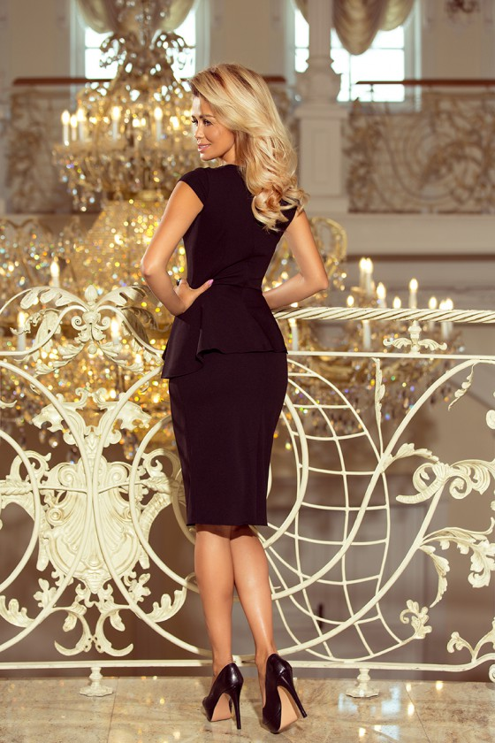 Juodos spalvos peplum suknelė_179974