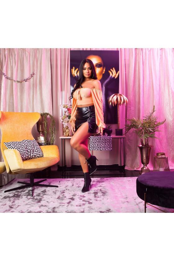 Juodos spalvos peplum suknelė_179975