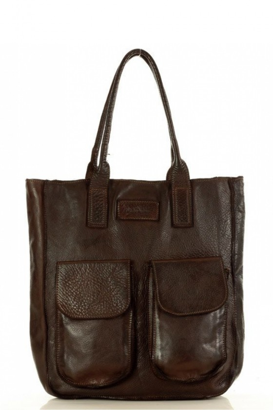 Natūralios odos krepšio modelis 152414 Mazzini