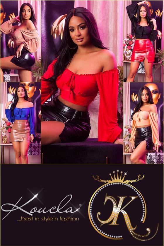 Raudonos spalvos megztas kostiumas_180376