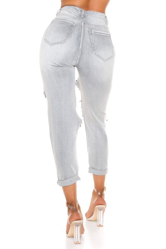 Stilingas kardiganas su džinsų spalvos juostomis_180414