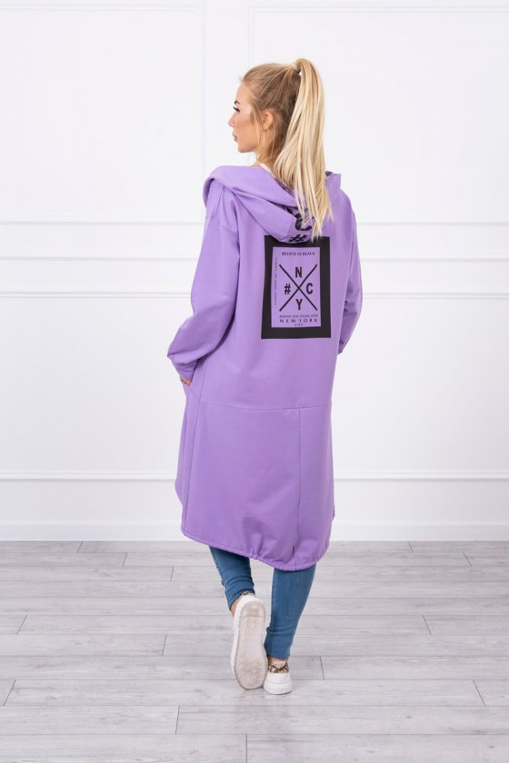 Violetinės spalvos oversize modelio apsiaustas_180504