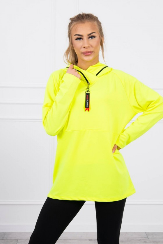 Neoninės geltonos spalvos bliuzonas 0160