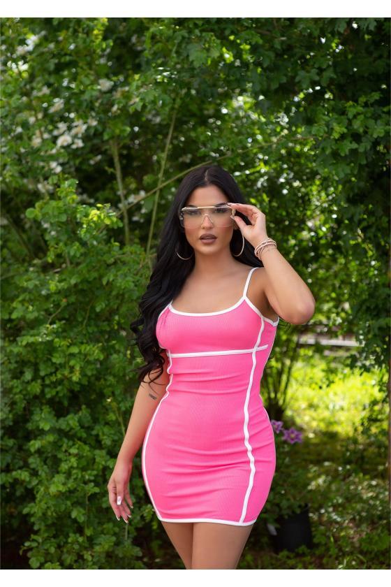 Violetinės spalvos medvilninė suknelė_181499
