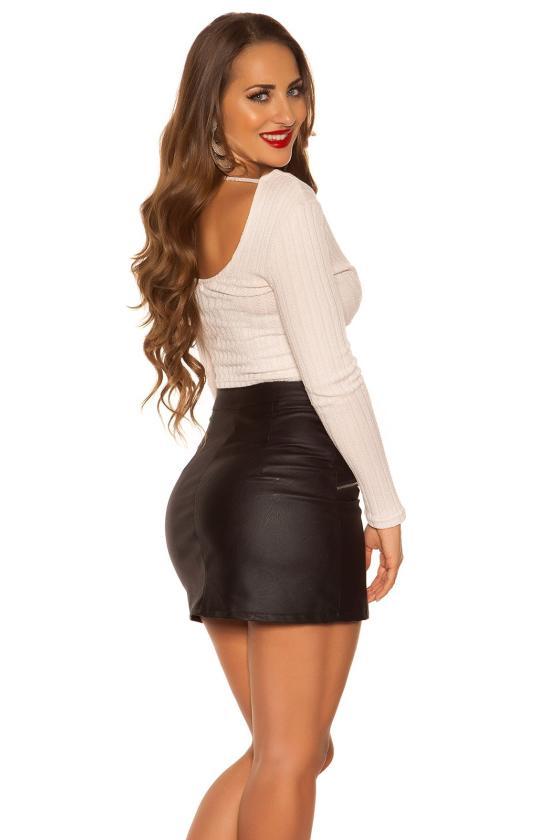 Raudonos spalvos skater suknelė_182645