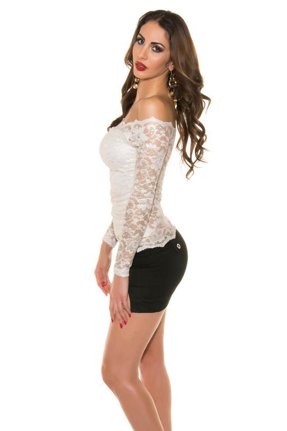 Elegantiška chaki spalvos palaidinė-marškiniai su kaspinu