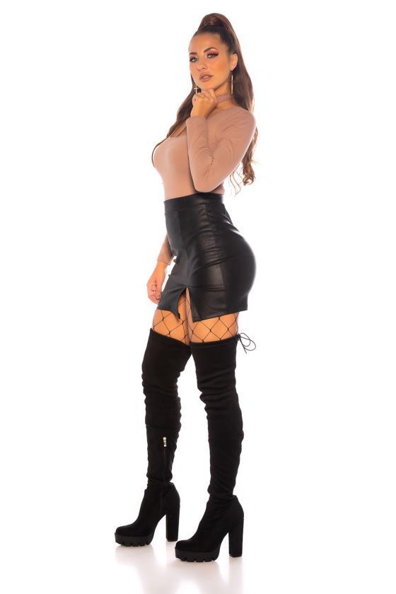 Raudona laisvalaikio suknelė reguliuojamu liemeniu_182827