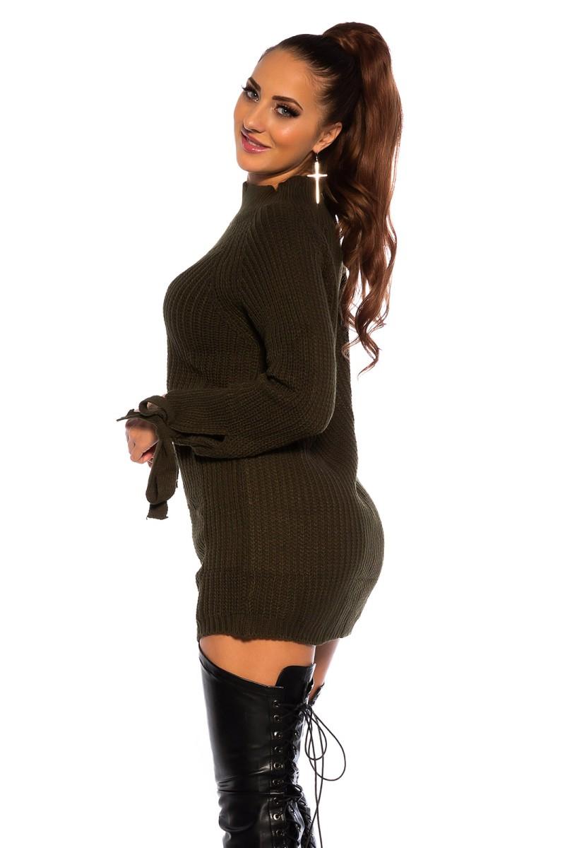 Raudonos spalvos elegantiška suknelė ELENA_183429