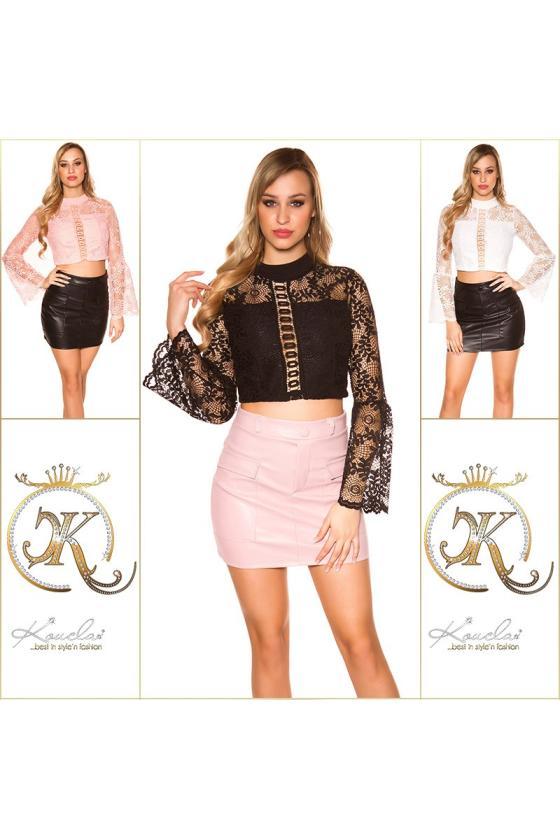 Raudonos spalvos elegantiška suknelė ELENA_183432