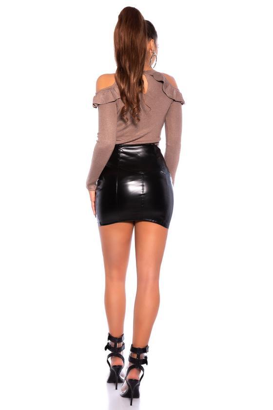 Šampano spalvos mini suknelė_183735